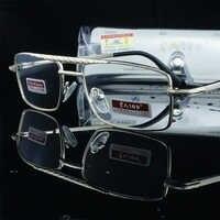 = Clara Vida = gafas de lectura de cristal Natural o resina de doble haz de aleación de alta calidad + 1 + 1,5 + 2 + 2,5 + 3 + 3,5 + 4