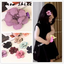 snowshine #3002  Kids Girls Dimensional Flower Hairpin Hair Clips Tiara Accessories   free shipping