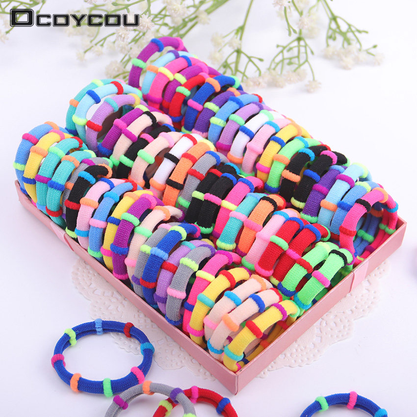 20PCS Candy Color Elastic Headband Hair Rope Rubber Bands Scrunchy Hair Accessories Gum for Girl Kid Ponytail in Women 39 s Hair Accessories from Apparel Accessories