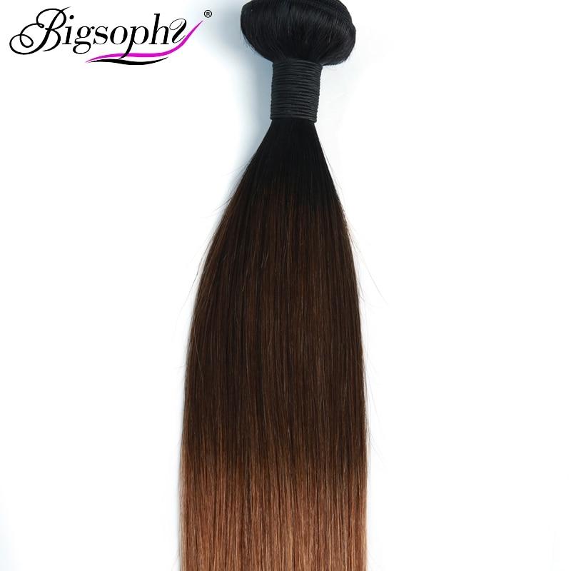 Bigsophy Brazilian Hair Weave Bundles Straight Hair 4 Bundles Remy Hair Extension Ombre Color 3 Tone 1B 4 30 3 4 Bundles deals in 3 4 Bundles from Hair Extensions Wigs