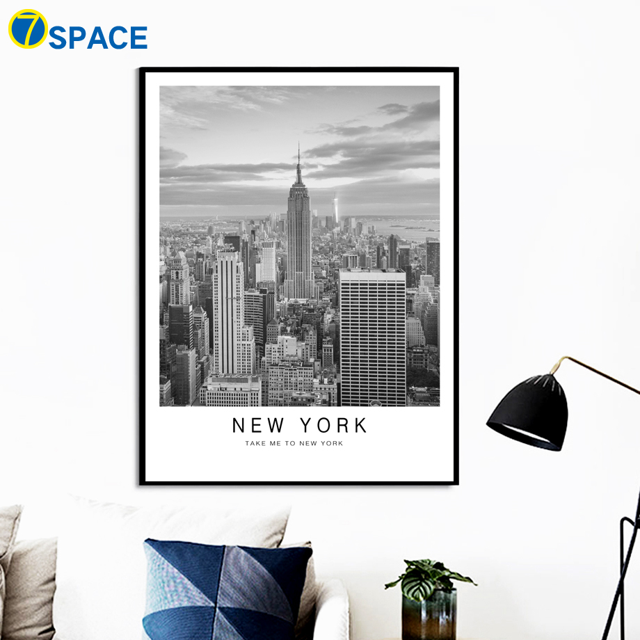 Car Alpaca New York Vintage City Nordic Posters And Prints Wall Art Canvas Painting Wall Pictures For Living Room Pop Art Decor in Painting Calligraphy from Home Garden