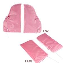 1 paire électrique Nail Art manucure gants chauffés mitaines infrarouge cire thérapie traitement SPA plus chaud pour pied main soin mitaines outils
