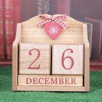 Coloffice 1PC Decorative Furnishing Calendar Wood Desktop Calendar European Pink Learning Periodic Planner Table Stationery
