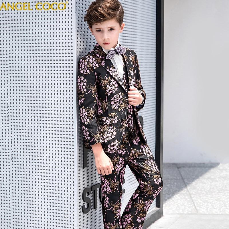 edb7a668cae2e 2018 Boys Suits For Weddings Kids Prom Suits Handsome Wedding Suits For  Boys Children Clothing Set Boy Formal Costume Garcon