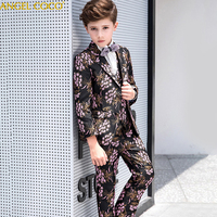 2019 Boys Suits For Weddings Kids Prom Suits Handsome Wedding Suits For Boys Children Clothing Set Boy Formal Costume Garcon