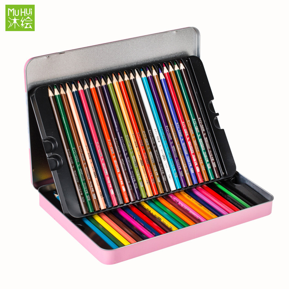48 pcs Colored Pencil Painting Set lapis de cor Non-toxic Lead-free Oily Color Pencil Writing Pen Office & School Supplies