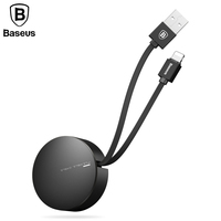 Baseus Retractable USB Cable For iPhone 5 6s 7 Fast Charging Cable For iPhone iPad Mobile Phone Portable USB Charger Data Cable