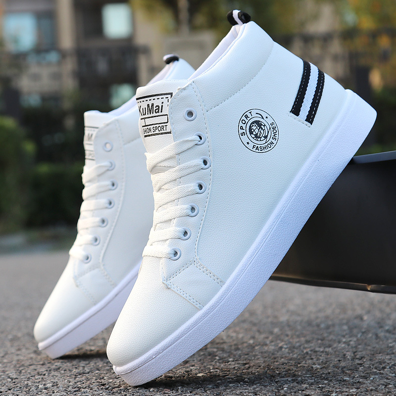 Ultimate Deal~Men Boots High-Top-Shoes Casual-Shoes Spring Lace-Up White Waterproof Fashion Autumn