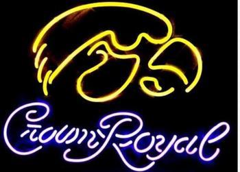 Crown Royal Ncaa Iowa Beer Bar Neon Light Sign