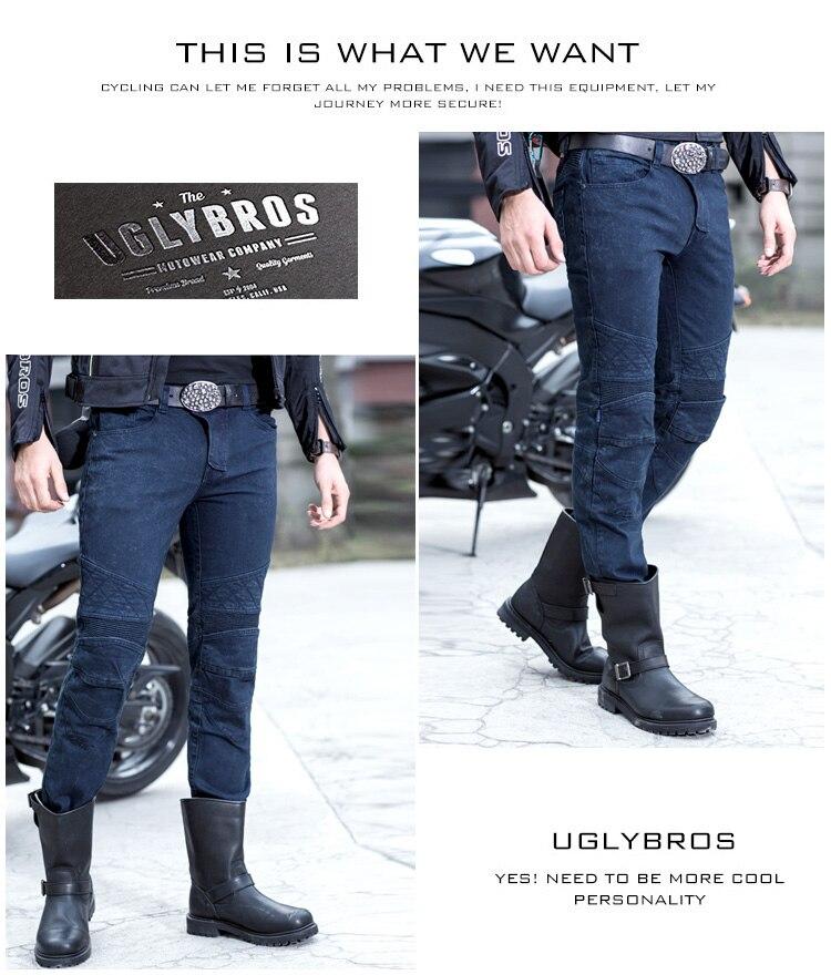 UGLYBROS TON-UP ubp09 Men's  racing pants motorcycle jeans black blue 2 color 2016 the newest uglybros motorpool ubs11 leisure motorcycle ms locomotive vintage jeans blue jeans women pants jeans