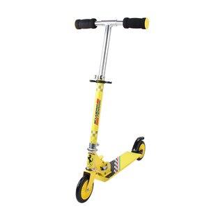 Image 2 - 120 MM מתקפל גובה מתכוונן רגל קטנוע שני סיבובים גלגלים חיצוני כפול דעיכת לדחוף ילדי קורקינט סיטונאי