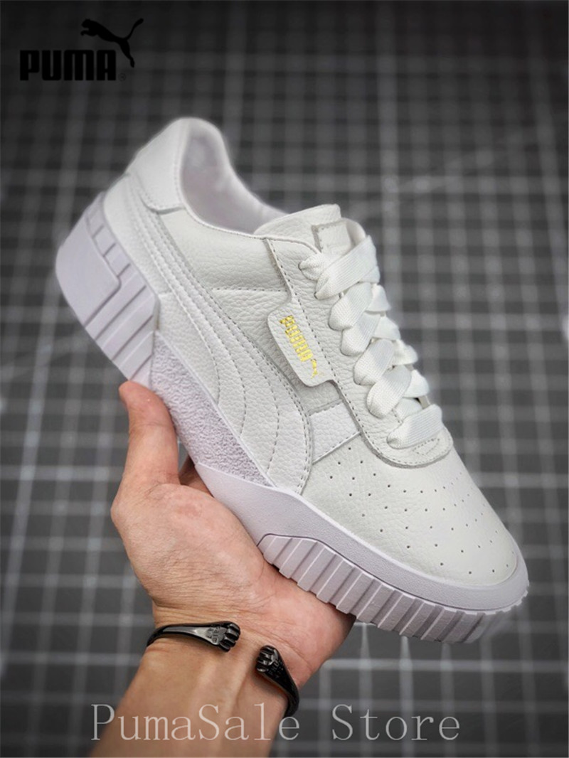 34edf804ca2 PUMA Basket plate-forme Euphoria métal femmes Badminton chaussures Rihanna  367850-01 blanc supérieur