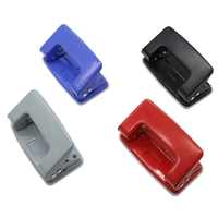 New Brand Mini Double hole puncher Two holes Portable Metal ABS High quality School Office Stationery 10-sheet aperture 6mm