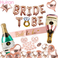 Huiran Wedding Balloon Suit Mr&Mrs Wedding Decoration Team Bride Bridal Shower Bride To Be Wedding Party Decoration Event Party