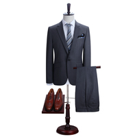 DAROuomo Men S New Work Slim Fit One Button Suits Jacket And Pants Left And Right