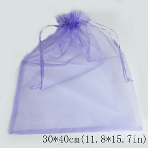 Image 2 - 50 unids/bolsa 30x40cm 35x50cm bolsas de Organza para ropa bolsas paraguas bolsa de embalaje para joyería con cordón