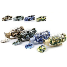 Cute mini  car bomb  lighting racing in camouflage toys children creative gift free shipping