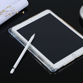 Caso con la Matita Del Supporto Per Apple iPad Pro 10.5 Antiurto TPU Trasparente Della Copertura di Caso Per iPad Pro 10.5 A1701 A1709 tablet Funda