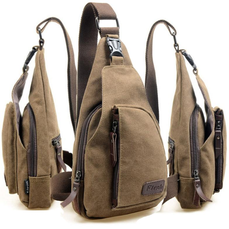 Aliexpress.com : Buy Unisex Canvas Chest Back Pack travel ...