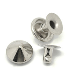 50Sets Silver Tone Cone Spike Garment Rivets Studs Spots DIY Clothes Shoes Bags Findings 9mm 8mm