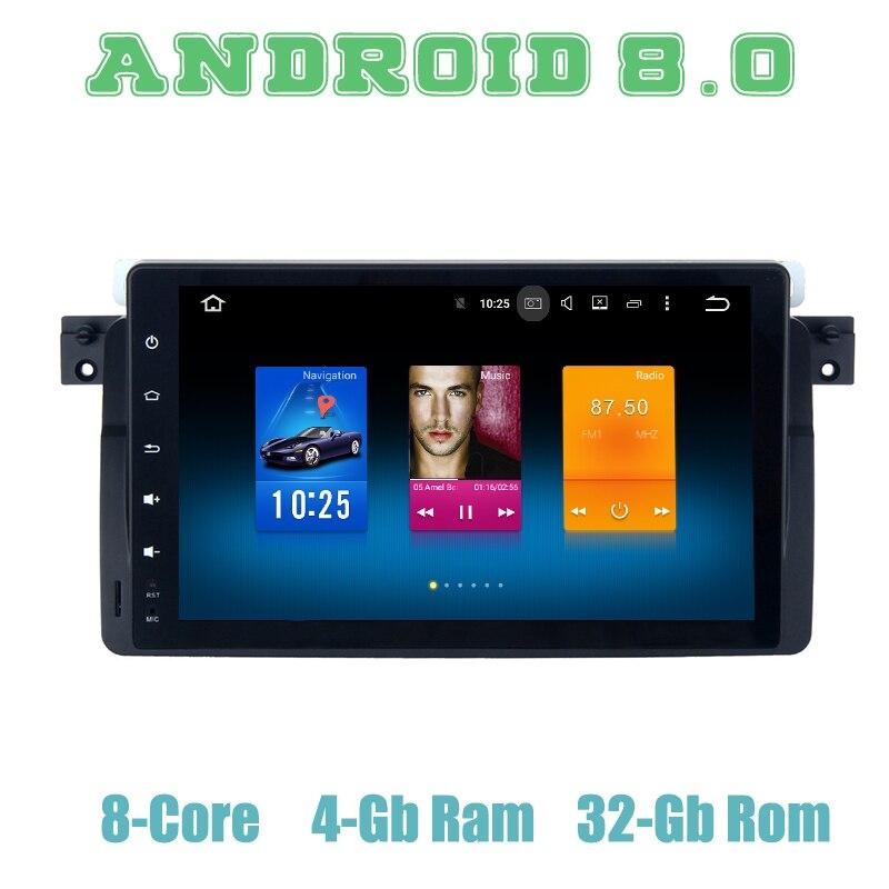 Autoradio Octa core PX5 Android 8.0 gps pour BMW M3 3 Series E46 318i 320i 325 iwith 4 + 32G wifi 4g usb stéréo automatique