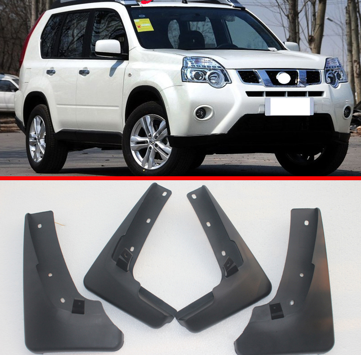 Set Molded Car Mud Flaps For Nissan X Trail T31 2008 2009 2010 2011 2012 2013 Xtrail Splash Guards Mud Flap Mudguards Fender|Mudguards| |  - title=