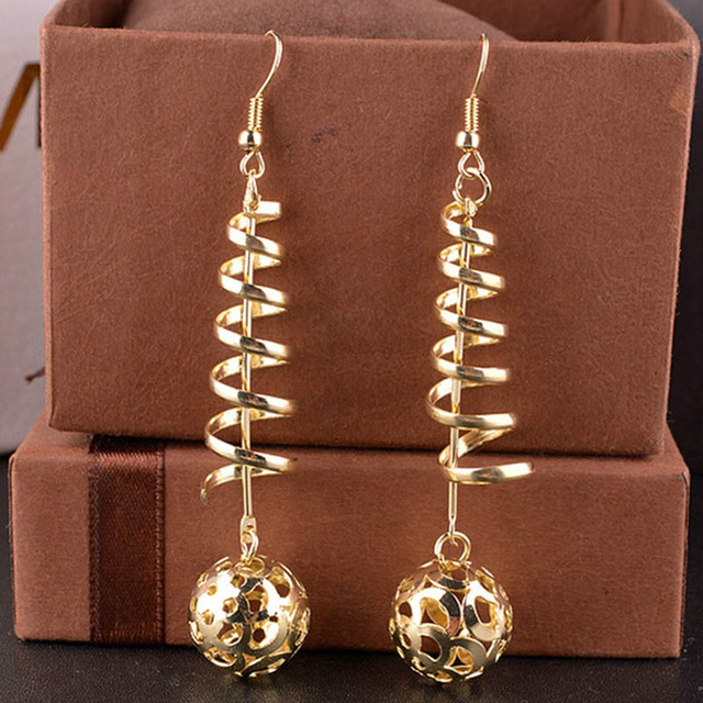 Long Golden Earrings