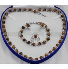 Eye Link Bracelet/ Earrings /Ring / Necklace set Crystal Healing ^18K GP style Fine jewe Noble Natural jade FREE SHIPPING