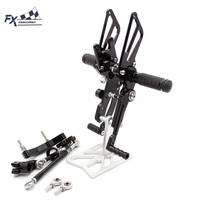 CNC Aluminum Motorcycle Foot Pegs Rest Footpegs Pedals Rearset Footrest For KTM duke 690 2012 2013 2014 2015