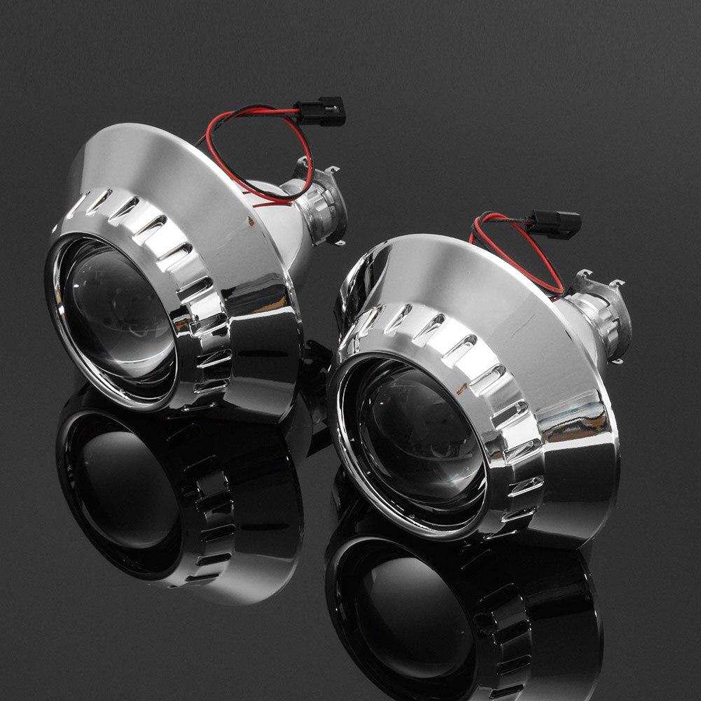 Nouveau 1 paire 2.5 pouces bi-xénon HID H1 phare projecteur lentille faisceau de modification pour BMW E46