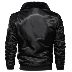 Image 5 - Masculino tático piloto bombardeiro jaqueta inverno outono quente jaquetas de vôo militar gola de pele do exército motocicleta parkas casacos de lã