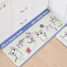 Милое животное, мультяшная кошка, коврики на дверь, пыленепроницаемые Нескользящие ковры, коврики для спальни, кухни, коврики для ног, коврик для ванной, домашний декор