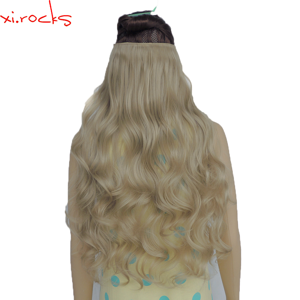 2 Piece Xi Rocks 5 Clip In Hair Extension 70cm Synthetic