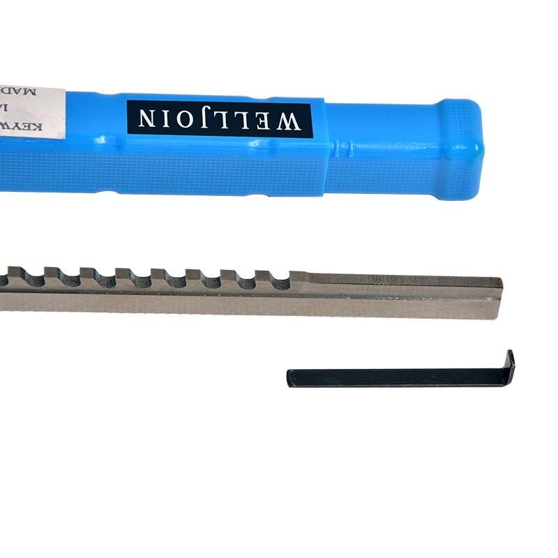 HSS Keyway Broach 14mm D Push Type Metric Size CNC Metalworking Tool A