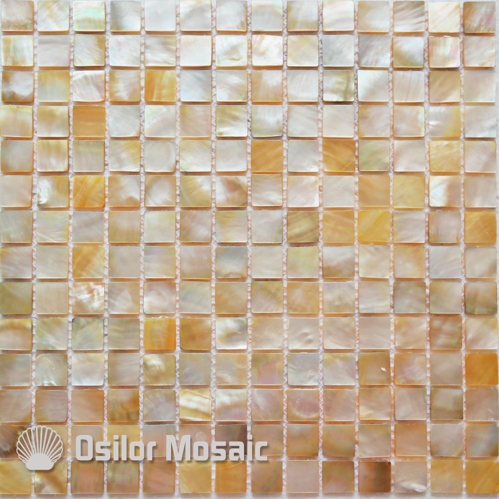 100% natural sea shell yellowlip mother of pearl mosaic tile for bathroom decoration wall tile 1pcs fashion style sea shell mosaic tiles mother of pearl hotel spas wall mosaics tile natural gallant elegant strip penguin shell
