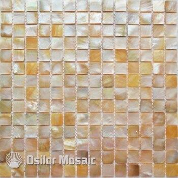 100% naturalne sea shell yellowlip masa perłowa mozaika do dekoracji łazienki płytki ścienne 1 sztuk