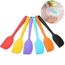 1 Pc 21.5*4cm Silicone Batter Spatula Cake Cream Mixer Long Handled Baking Scraper Kitchen Cooking Tool Random Color