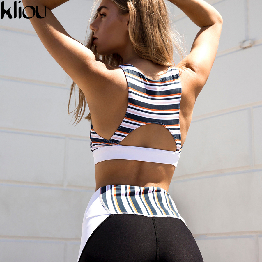 Weirdgirl  Work Out New Fashion Leggings Pants Two Pieces Sets Suits Women Casual Fitness Suits Cropped Tops Tanks And Movement