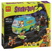 Bela 10430 Scooby Doo Mystery Machine Bus Building Block Mini Toys with lepin 75902 Christmas gift