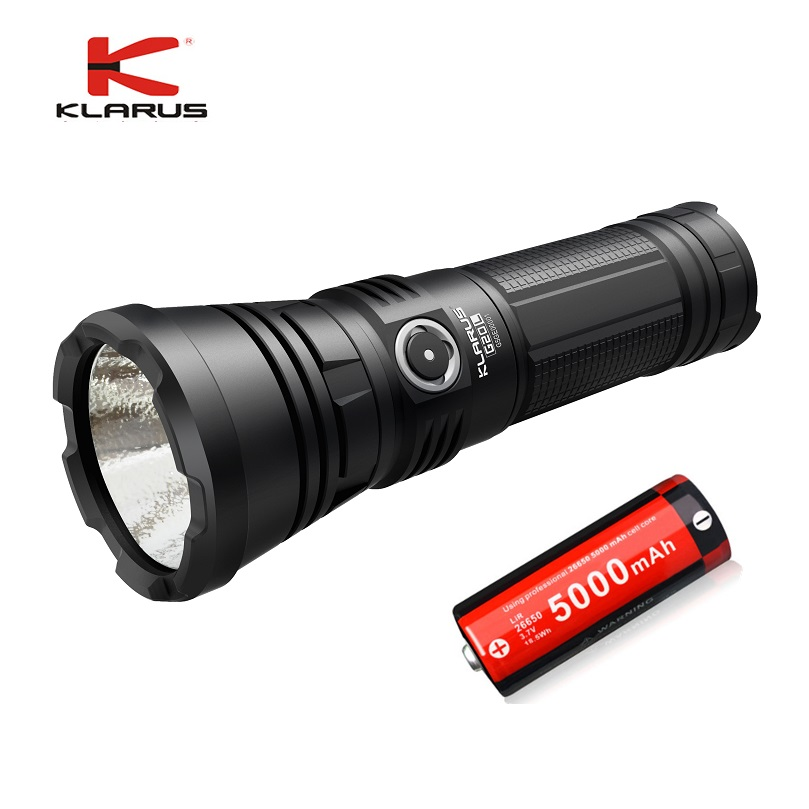 KLARUS G20L CREE Next Gen. XHP70.2 P2 3000 lumens Rechargeable LED Flashlight Tactical Led Torch with 26650 Li-ion batteries 3800 lumens cree xm l t6 5 modes led tactical flashlight torch waterproof lamp torch hunting flash light lantern for camping z93