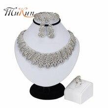 Jewelry-Sets MUKUN Dubai Wedding-African-Beads Nigerian Silver-Plated Handmade New Fashion