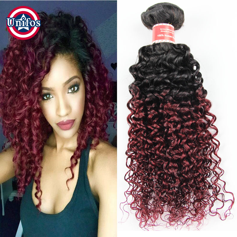Ombre burgundy brazilian hair kinky curly virgin hair extensions 4 ombre burgundy brazilian hair kinky curly virgin hair extensions 4 piece lot ombre brown hair bundles blonde jerry curly weave in hair weaves from hair pmusecretfo Gallery