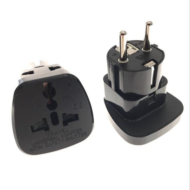 3b2ca1b7302 EU German Plug Adapter UK British US AU To European Euro Europe AC Travel  Power Adapter Converter Plug Electrical Socket Outlet