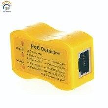PoE 세계 신속하게 식별합니다 이더넷 RJ 45 PoE Detector PoE TesterLED 디스플레이 수동/802.3af/at 24v/48v/56v