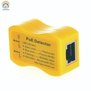Image 1 - PoE World Quickly identify Power over Ethernet with RJ 45 PoE Detector PoE TesterLED Display passive /802.3af/at; 24v/48v/56v