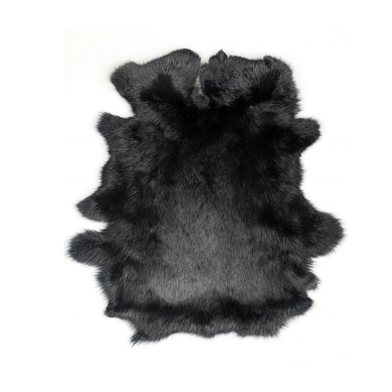100% Genuine Rabbit Fur Rug Pure White, Natural Shaped Real Rabbit Fur Mat For Furniture , DIY Rabbit Fur Material SALES