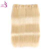 Бразильский прямые волосы 3 Связки 613 платиновый Цвет реального Красота человеческих волос соткет Связки Русых Волос
