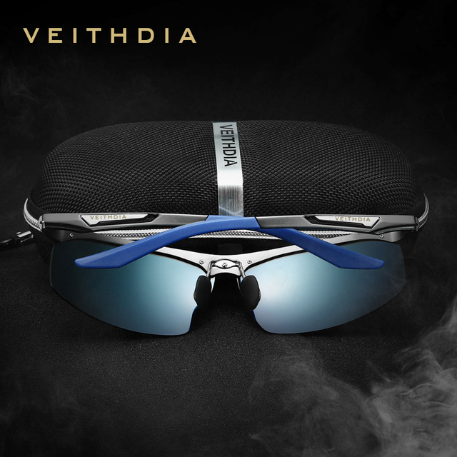 VEITHDIA Aluminum Magnesium Men's  Sunglasses Polarized Men Coating Mirror Glasses oculos Male Eyewear Accessories For Men  6562