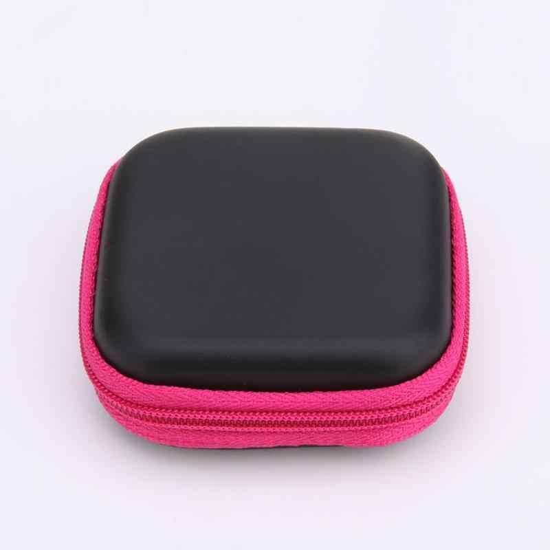 ALLOYSEED 1 шт. квадратная EVA/ПУ Коробка Для Хранения Чехол Для Наушников карта памяти MP3 гарнитура кабель для передачи данных Органайзер коробка сумка держатель