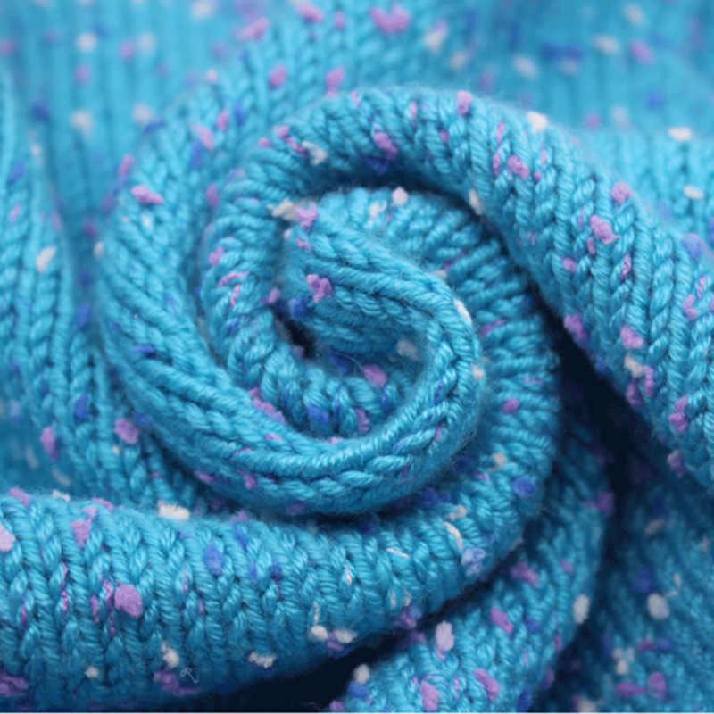 손으로 뜨개질을위한 고품질 아기 면화 캐시미어 원사 크로 셰 뜨개질 소모사 양모 스레드 다채로운 에코 염색 바느질 작업